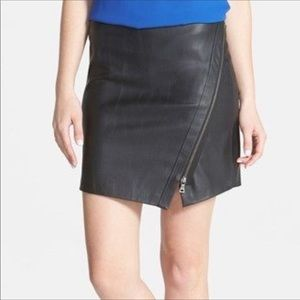 Two by Vince Camuto Faux leather moto skirt